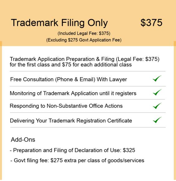 Trademark-Filing Pricing